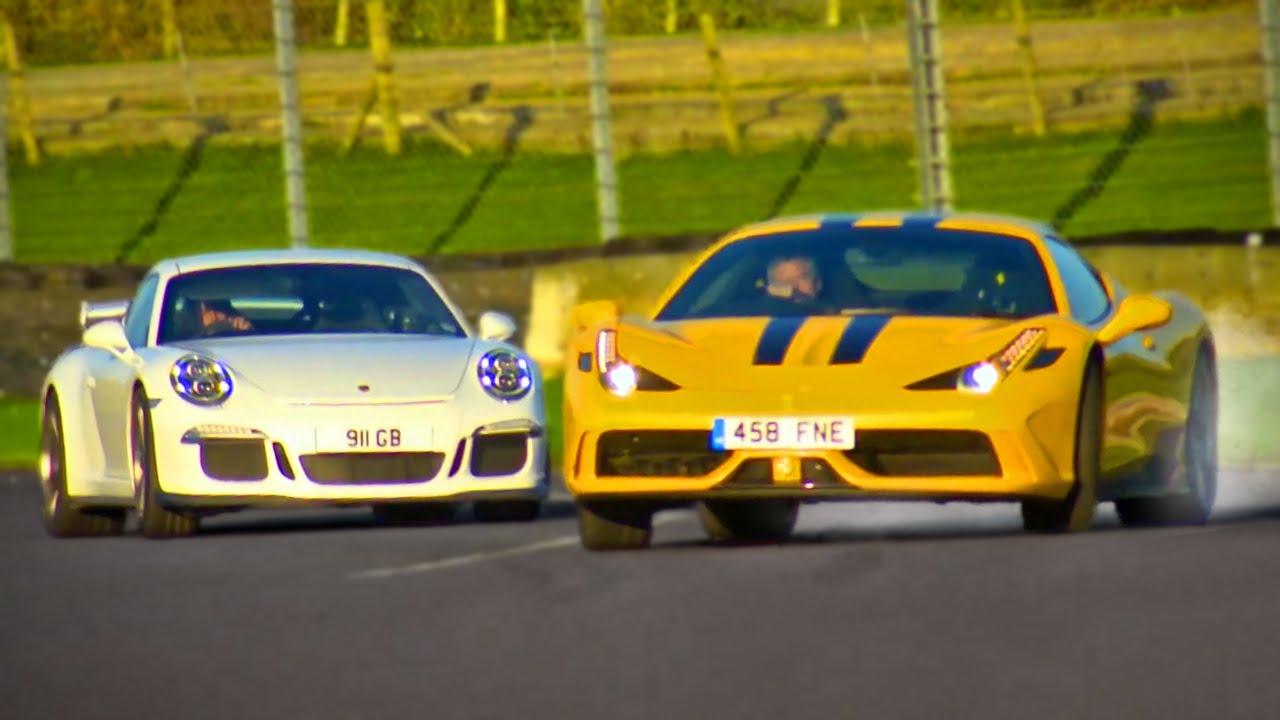 Ferrari 458 Speciale Vs Porsche 911 Gt3 Fifth Gear Youtube