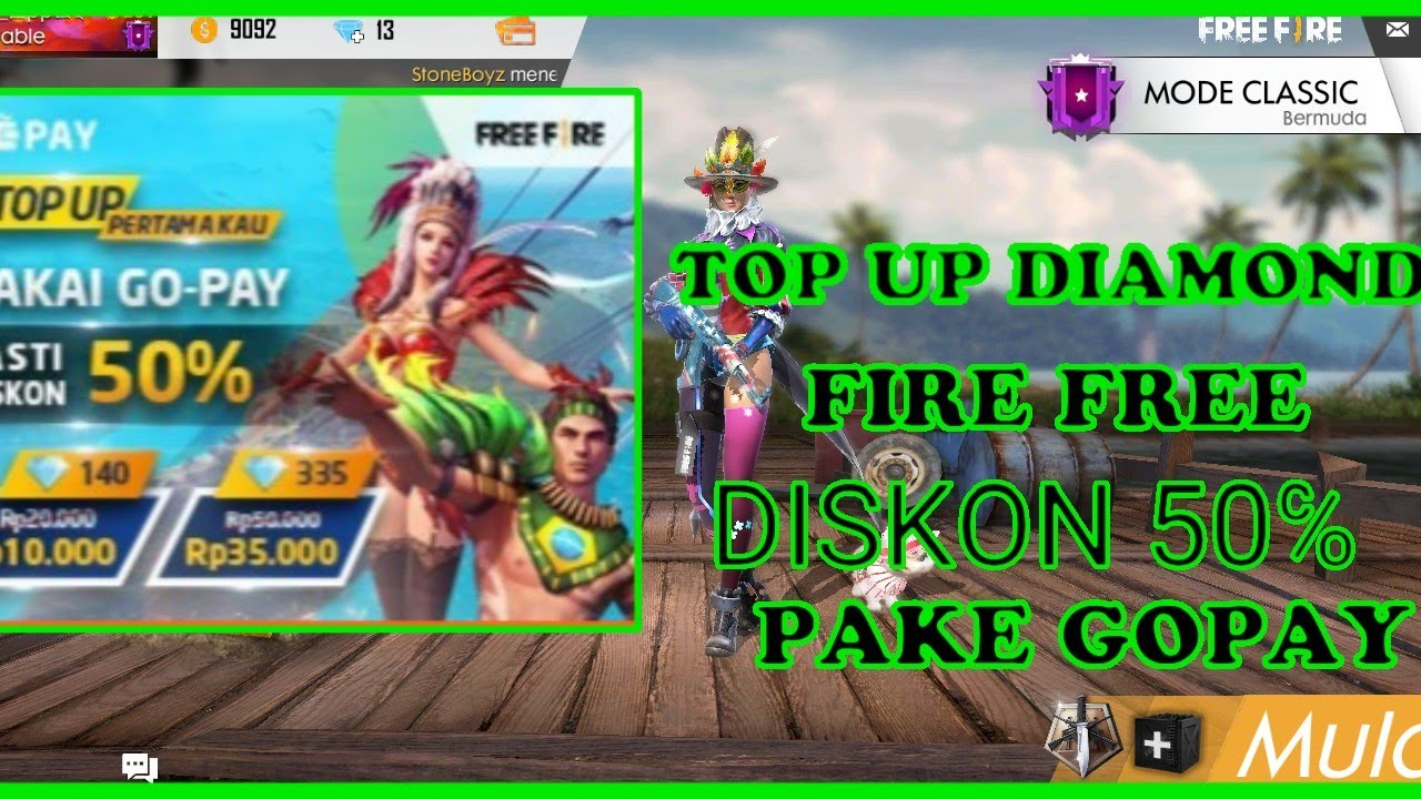 Top Diamond Free Fire Diskon 50 Pake Gopay Youtube