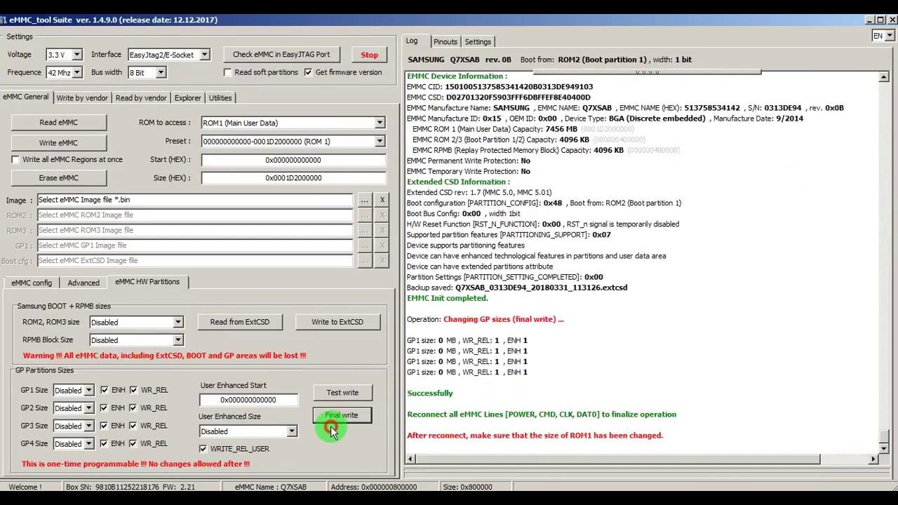Lg D690 Dead Boot Emmc Repaire - asif shah