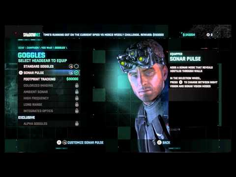 "Splinter Cell: Blacklist - Talk To Charlie & Buy Sonar Goggles ""Vic is Doing Better"" Scene Wii U"