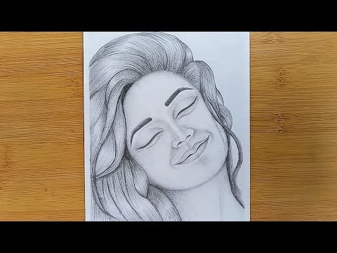 How to draw a Girl silly happy faces with pencil sketch thumbnail