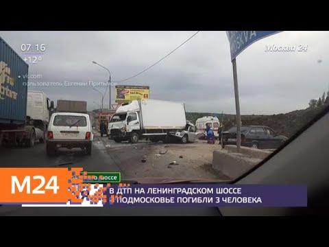 Видео ГИБДД-ДПС.РФ: В ДТП на Ленинградском шоссе погибли три человека - Москва 24 1