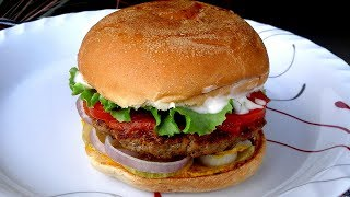 আমেরিকান বার্গার বানানোর রেসিপি - Bangladeshi American Burger Recipe - Beef Burger Bananor Recipe