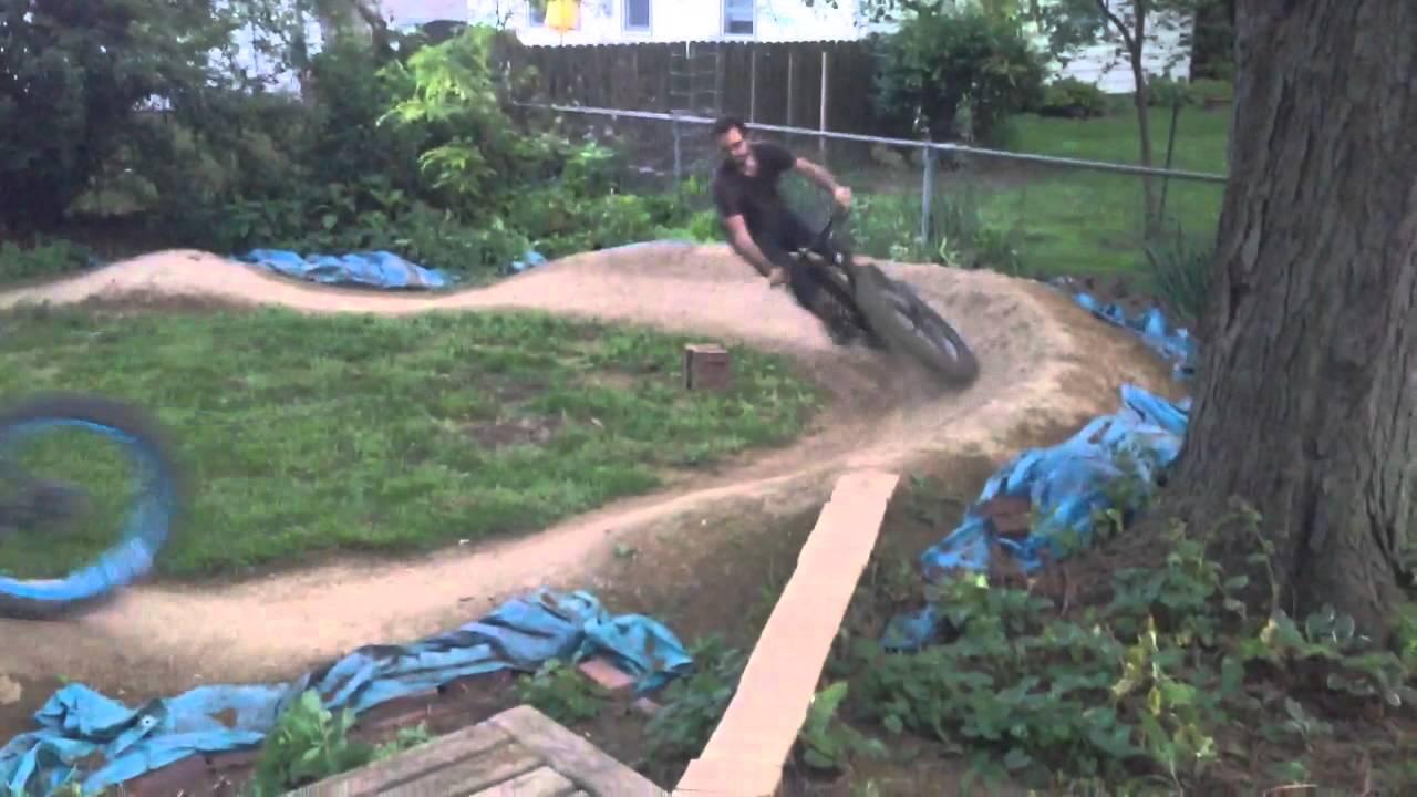 Backyard Pumptrack backyard pump track - youtube