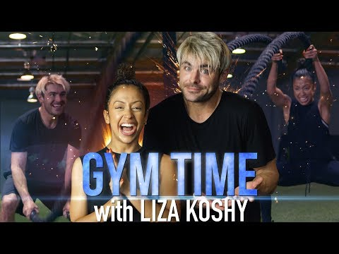 Zac Efron Worked Out With YouTube Sensation Liza Koshy, and Sweat Was Flying Within Seconds