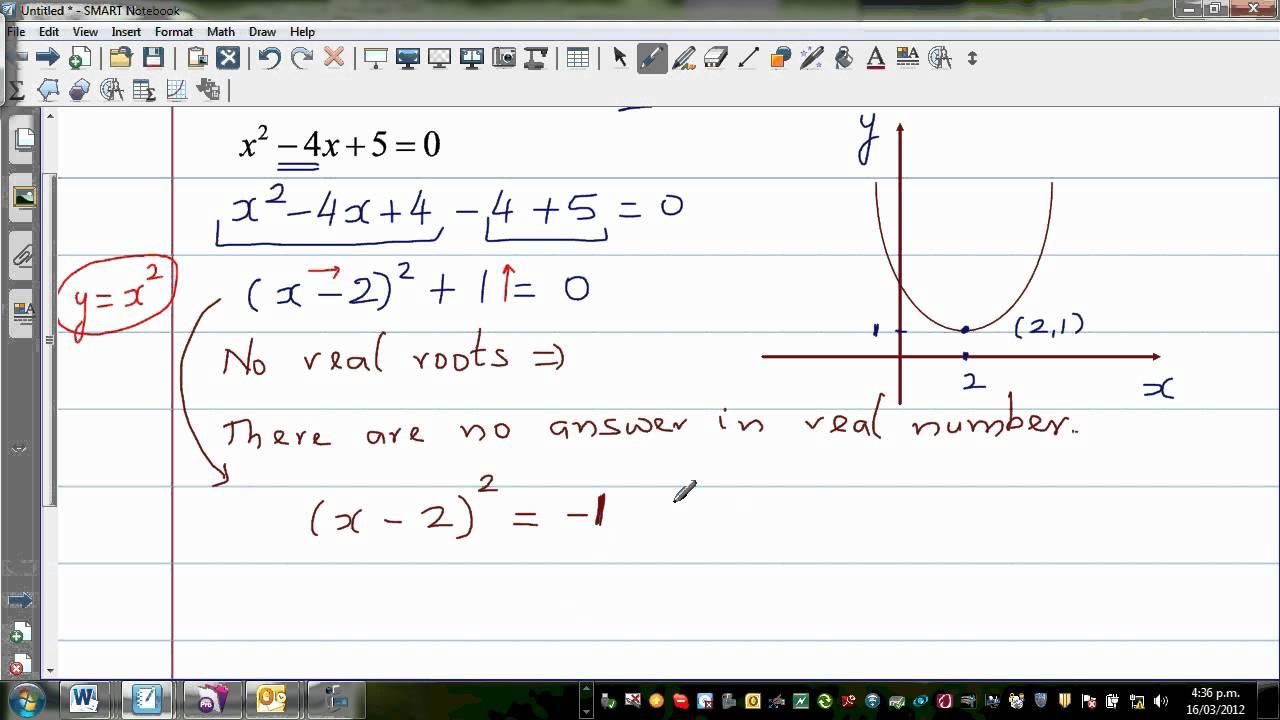 solving quadratic equation with
