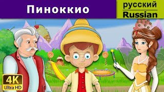 Пиноккио | сказки на ночь | дюймовочка | 4K UHD | русские сказки