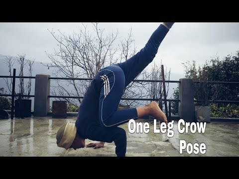 one leg crow pose  body balance  stund man  army lover