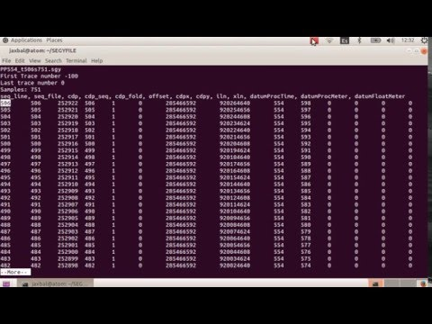 T04 How to read SEG-Y trace headers - YouTube