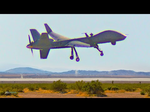MQ-9B SkyGuardian Flying at El Mirage Lake in California [2K]