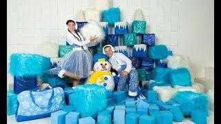 Новогоднее поролоновое шоу для детей