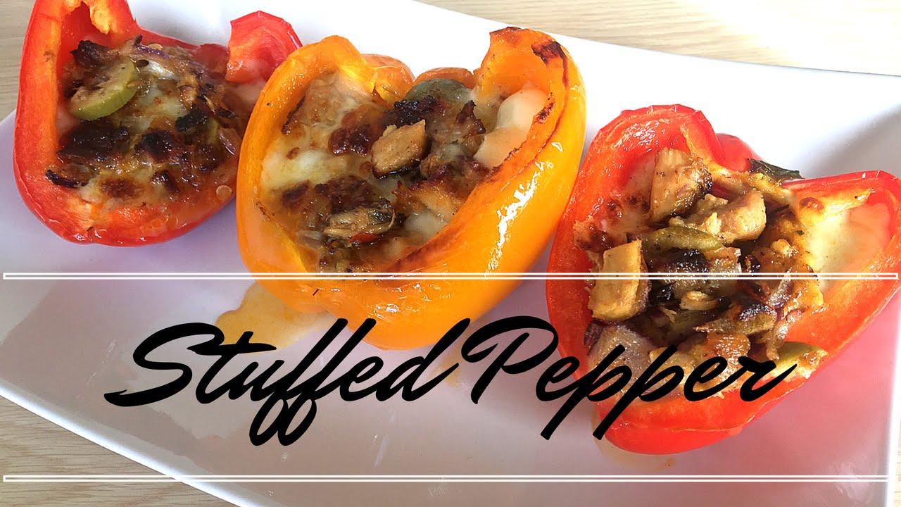 Stuffed Capsi With Chicken Mozzarella Stuffed Peppers Stuffed Capsi Recipe Yummy Yumz
