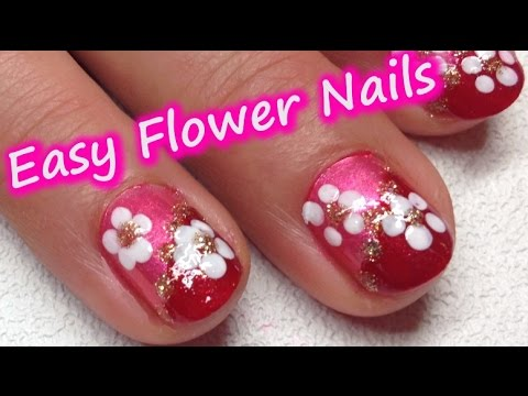 Super Easy Flower Nail Art Using Bobby Pin Only Great For Beginners Cute Nails