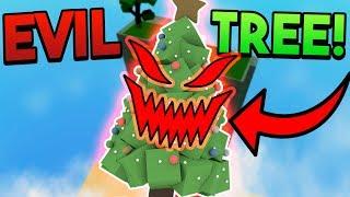 EVIL CHRISTMAS TREE TROLL!   ROBLOX: Super Power Training Simulator