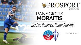 Panagiotis Moraitis scored a double vs. Rudar Pljevlja | PROSPORT.GR