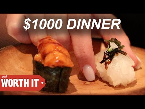 WHAT DOES A $1000 DINNER LOOK LIKE??