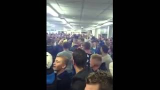 Leicester fans going mad at Newcastle United
