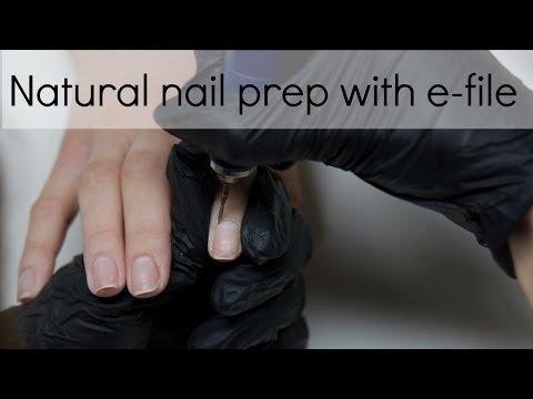 No lifting nail preparation with electric file (drill) | Tutorial | nailcou thumbnail