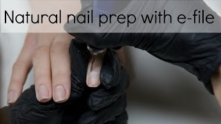 No lifting nail preparation with electric file (drill) | Tutorial | nailcou
