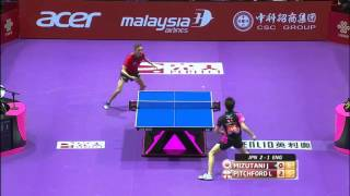 2016 World Championships Highlights: Jun Mizutani vs Liam Pitchford(This video was created by ttlondon2012 exclusively for the ITTF! Relive all the Perfect 2016 World Team Table Tennis Championships highlights from the Mens ..., 2016-03-05T18:04:26.000Z)
