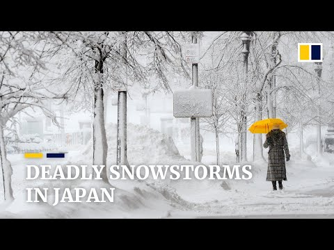 Deadly snowstorms in Japan bring record snowfalls and leave many communities at a standstill
