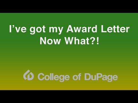 Financial Aid Presentation - I've Got My Award Letter...Now