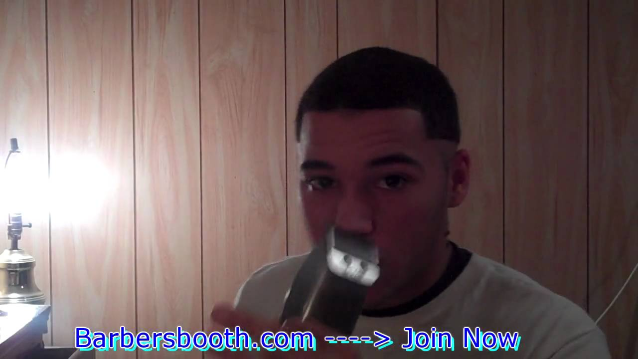 how to give yourself a bald fade: making your guideline - youtube