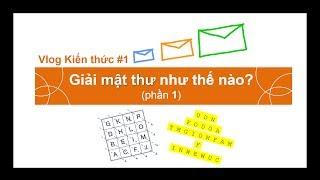 Vlog #1. Giải mật thư như thế nào? (phần 1)