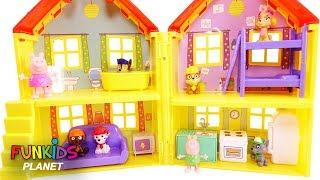 Learning Colors Videos: Paw Patrol Skye, Chase & Pups Play in Pig Doll House Toy Set