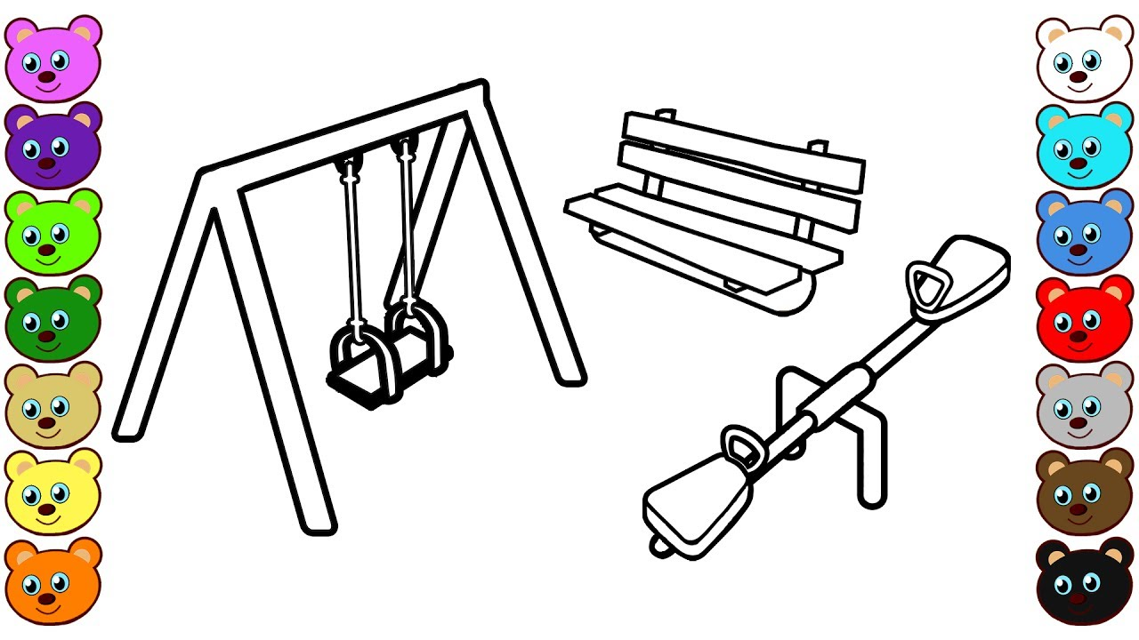 Swing coloring pages images galleries for Swing set coloring page