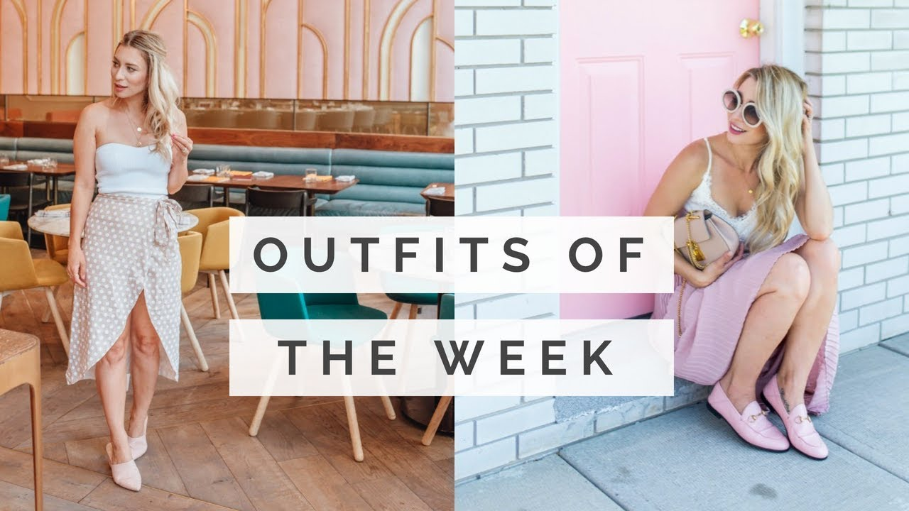 What I Wore This Week   Summer 2018 Outfits   Zara, Aritzia, Revolve 7