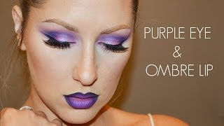 Purple eyes + Ombre Lip! Thumbnail