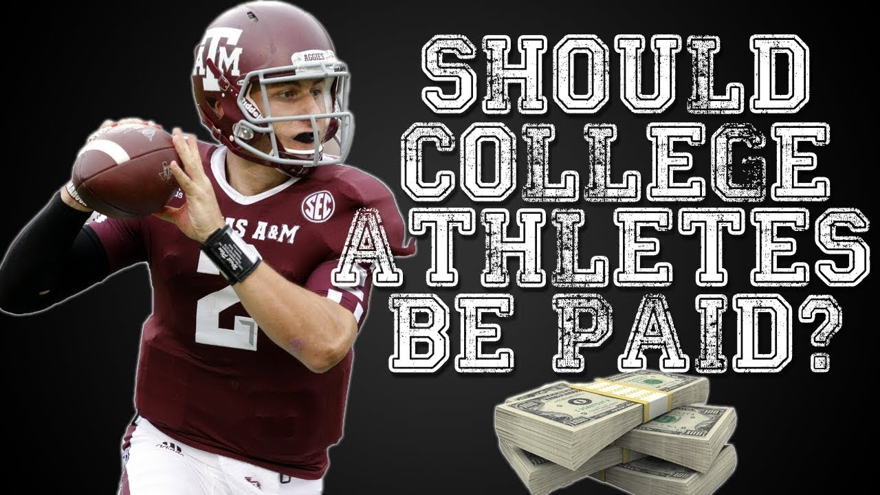 an argument in favor of college athletes getting paid This isn't to say that college athletes should get paid large amounts of money an argument for paying college athletes • so whats your argument.