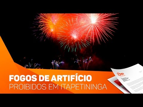 Fogos de artifícios proibidos em Itapetininga - TV SOROCABA/SBT