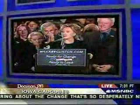 Hillary Clinton's Concession Speech in Iowa, 1308
