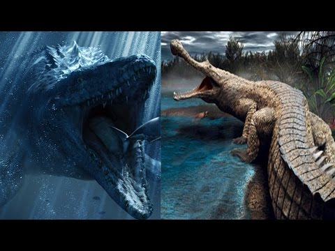 Mosasaur vs Sarcosuchus: Who Would Win?