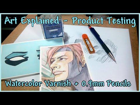 Art Explained - Product Testing Varnish + 0.9mm Pencils