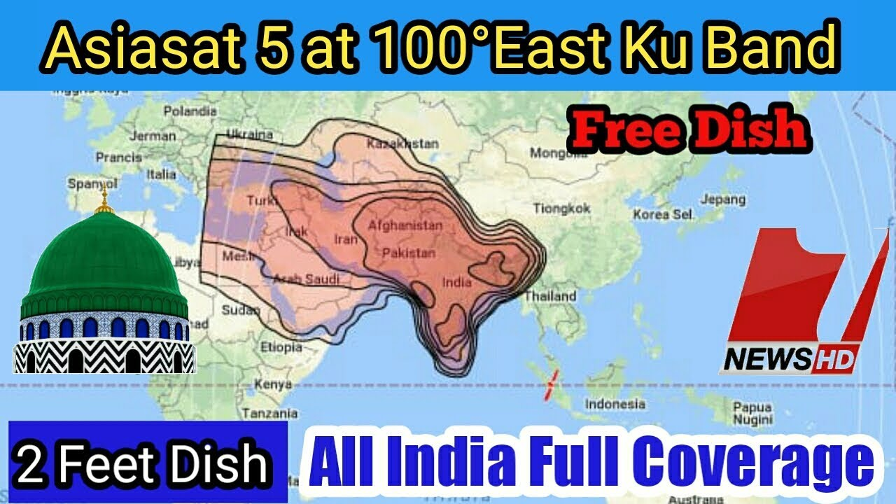 Asiasat 5 at 100°East Ku Band Satellite Channels List