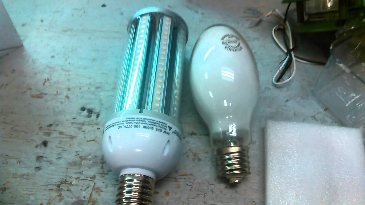 Led Conversion From A 250 Watt Compressed Mercury Youtube