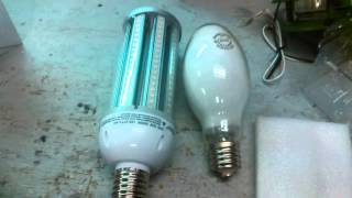 Led conversion  from a 250 watt compressed mercury