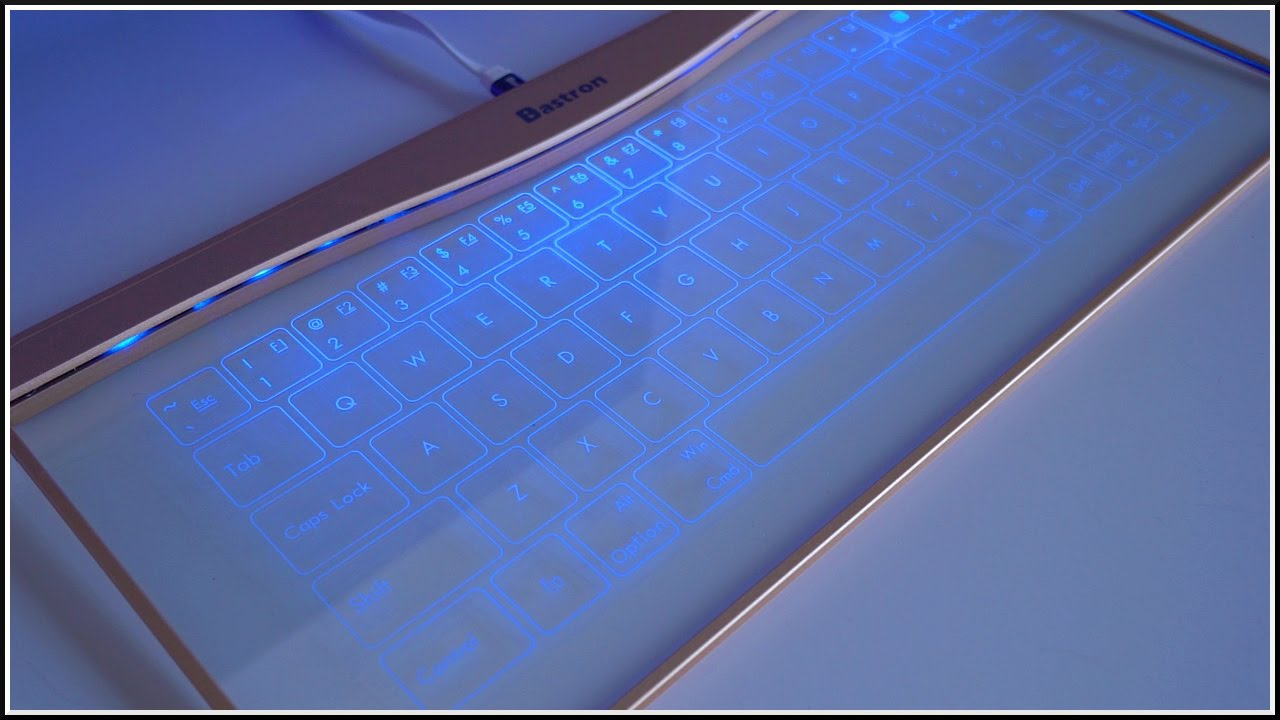 A Glass Touchscreen Keyboard?? - YouTube