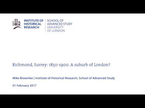 Richmond, Surrey: 1850-1900. A suburb of London?