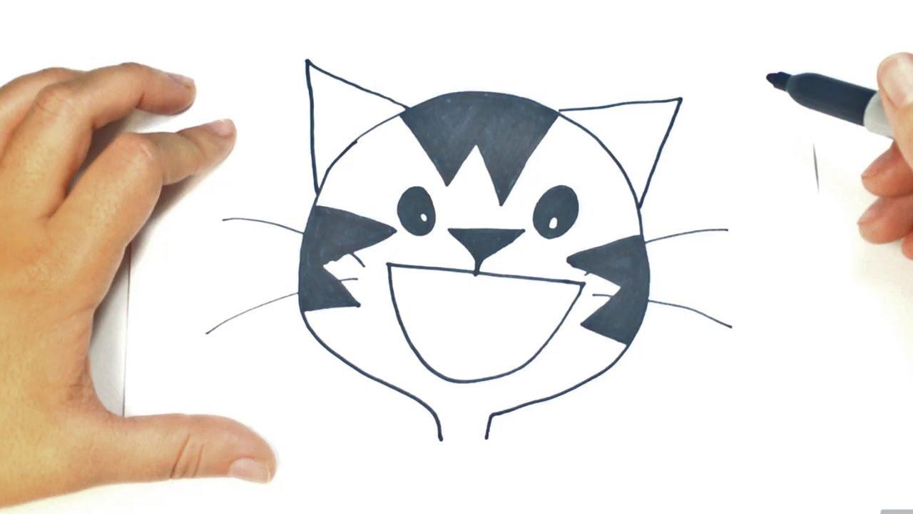 Cómo Dibujar La Cara De Un Gato Paso A Paso Dibujo Fácil De La