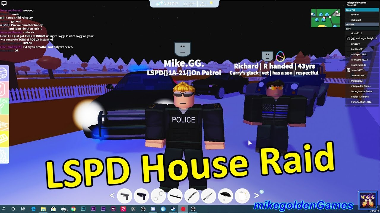 Tons Of Robux Instantly Los Santos Police Patrol House Raid On An Apb Suspect Roblox Episode 5 Youtube