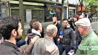 Le journaliste Vincent Lapierre s'invite à la manifestation