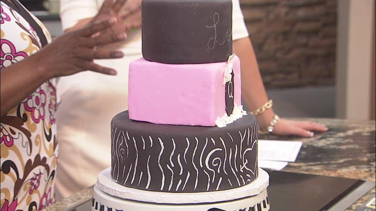 Chalkboard cake decorating - YouTube
