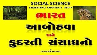 std 7 sem 2 social science chapter 2 bharat abohava ane kudarati sansadhano india climate