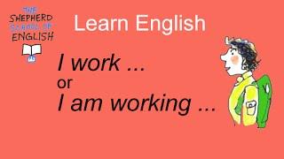 Learn English - present simple and present progressive