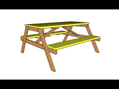 How To Build A Wooden Picnic Table