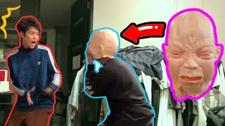 Scary mask prank on Fumiya!(Shunya's revenge)